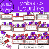 Valentine Clipart - Valentine Counting 0-10 {Jen Hart Clipart}