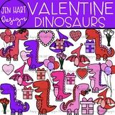 Valentine Clipart - Valentine Dinosaurs {Jen Hart Clipart}