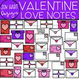 Valentine Clipart - Valentine Love Notes {Jen Hart Clipart}