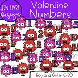 Valentine Clipart - Valentine Monster Math Numbers {Jen Ha