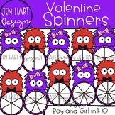 Valentine Clipart - Valentine Monster Spinners {Jen Hart Clipart}
