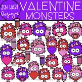 Valentine Clipart - Valentine Monsters {Jen Hart Clipart}