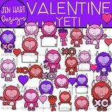 Valentine Clipart - Valentine Yetis {Jen Hart Clipart}