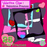 Valentine Clips: Valentine Frames