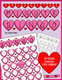 Valentine Clock Bingo (Time Bingo) - Time to the Five Minutes
