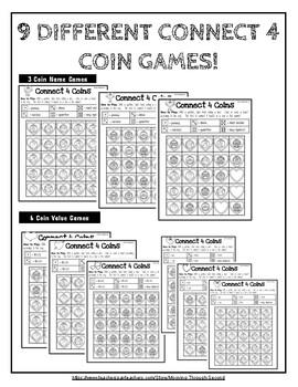 Valentine Coins Money Game Connect 4