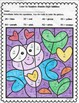 Valentine: Color By Number Double Digit Addition
