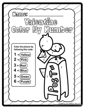 Color by Number Worksheets - Ready to Print and Go! Valentine's Day Edition