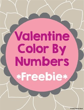 Free Valentine Color By Numbers