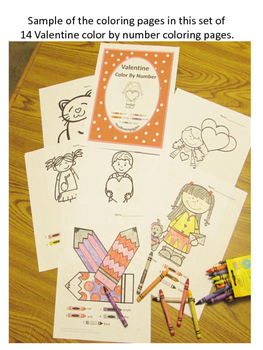Valentine's Day, Color by Number, Special Education Math, Preschool,Kindergarten