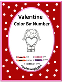 Valentine's Day, Color by Code Special Education Math, Preschool,Kindergarten