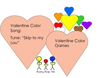 Valentine Color Games and Color Song