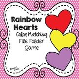 Valentine Color Match File Folder Game