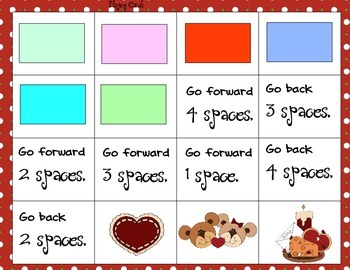 Valentine Color Matching and Counting Game