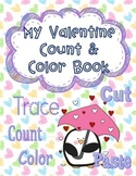 Valentine Color & Number Book Printable