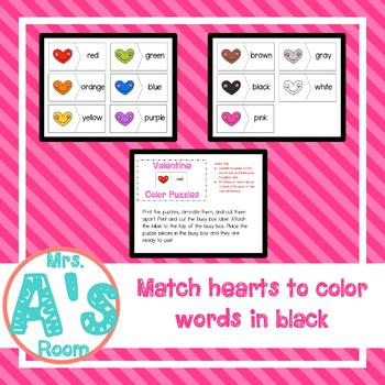 Valentine Color Puzzles Busy Box