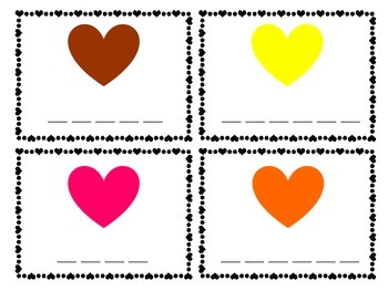 Valentine Color Words
