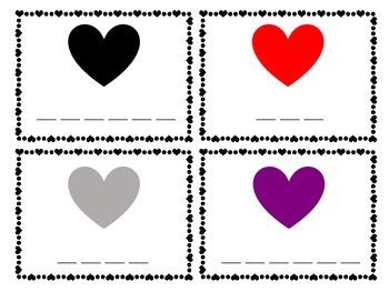 Valentine Color Words