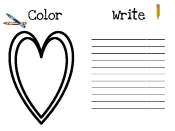 Valentine Color and Write