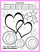 Valentine Color by Code: Add & Subtract Like Fractions