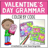 Valentine Grammar Coloring Pages Parts of Speech