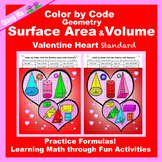 Valentine Color by Code: Surface Area and Volume: Practice