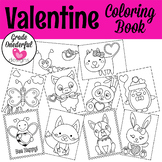 Valentine Animal Coloring Book