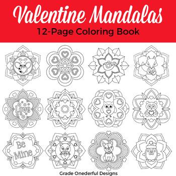Valentine Coloring Book: Valentine Mandala
