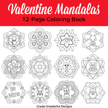 Valentine Mandala Coloring Book