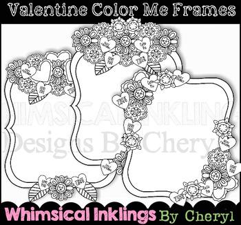 Valentine Coloring Frames