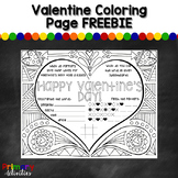 Valentine Coloring Page FREEBIE