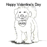 Valentine Coloring Page from the Secret ChewWooWoo Sweet H