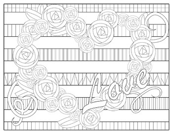 Valentine Coloring Pages By Jessica Johnston Teachers Pay Teachers