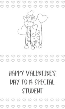 Valentine Coloring Pages Black And White Printable Valentines Tpt