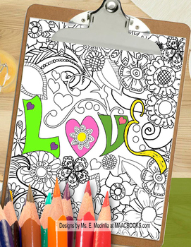 Valentine Coloring Pages Relax and Unwind with Love