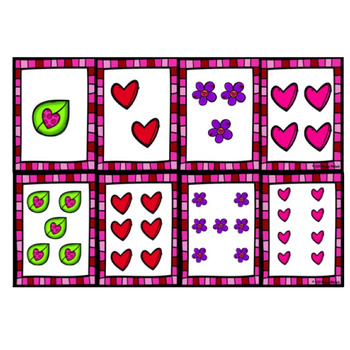 Valentine Comparing Cards 0-20 (Numeral and Picture Cards)