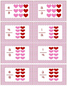 Valentine Comparing Fractions ~ Math Game