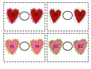 Valentine Comparing Numbers