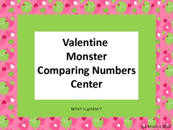 Valentine Comparing Numbers Center