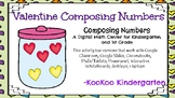 Valentine Composing Numbers-A Digital Math Center (Compati