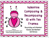 Valentine Add Subtract Numbers with 10 Frames, Number Sent