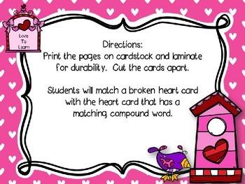Valentine Compound Word Match