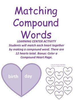 Valentine Compound Word Practice