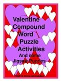 Valentine Compound Word Puzzle Activities
