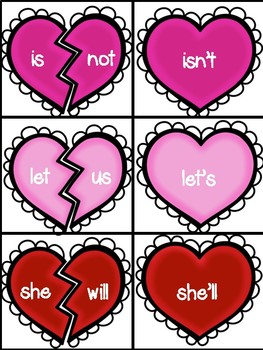 Valentine's Day Contraction Activities