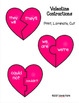 Valentines Day Contractions - Literacy Center and 3 Worksheets