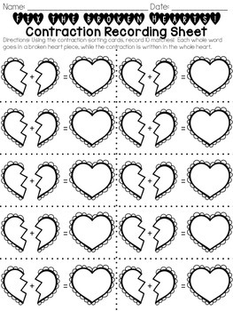 Valentine Contractions Match Sort