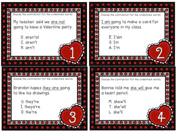 Valentine Contractions with QR Code option