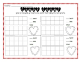 Valentine Conversation Heart Candy Count