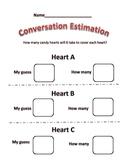 Valentine Conversation  Heart Estimation
